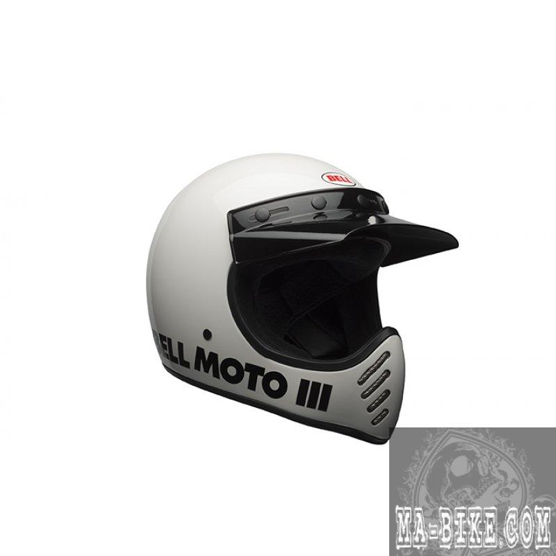 bell moto 3 classic white retro cross helm weiss ece. Black Bedroom Furniture Sets. Home Design Ideas