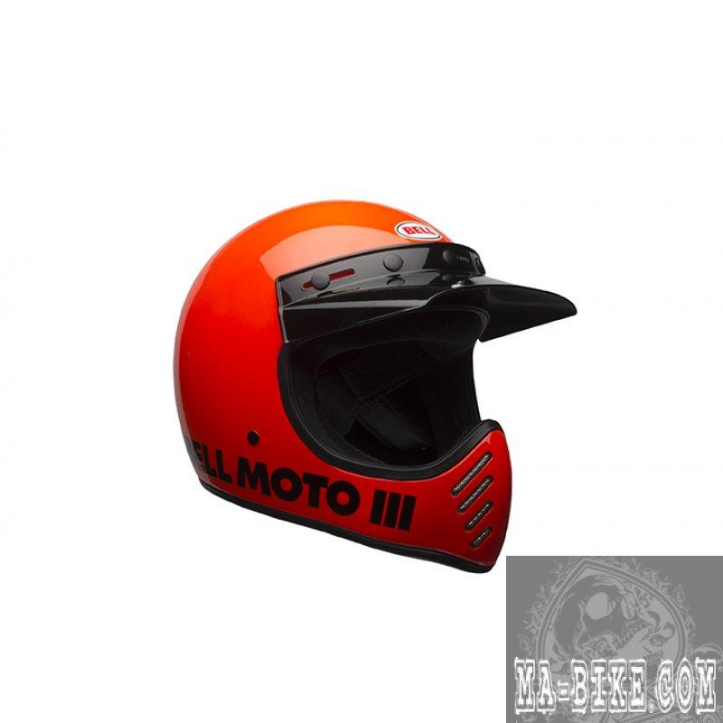 bell moto 3 classic flo orange retro cross helm ece. Black Bedroom Furniture Sets. Home Design Ideas