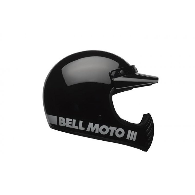 bell moto 3 classic black retro cross helm schwarz ece 22. Black Bedroom Furniture Sets. Home Design Ideas