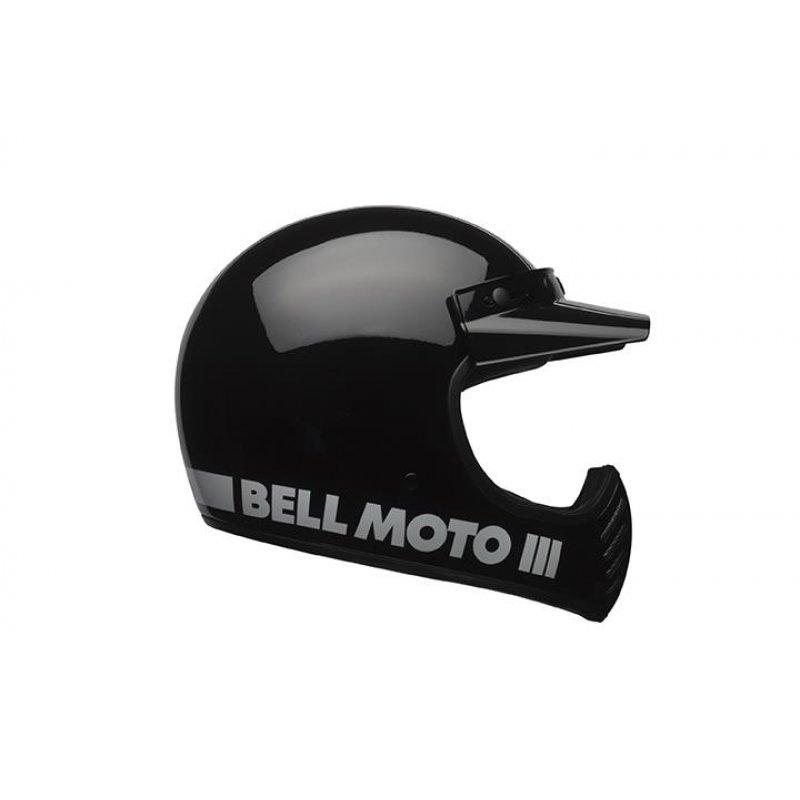 bell moto 3 classic black retro cross helm schwarz ece 22. Black Bedroom Furniture Sets. Home Design Ideas