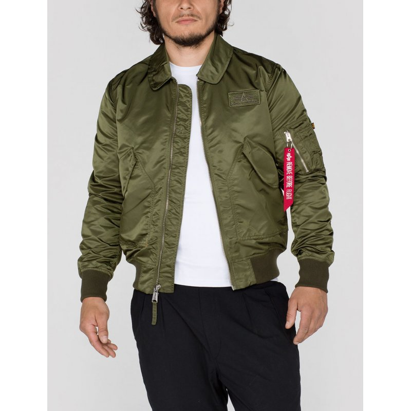alpha industries bomberjacke cwu lw pm herren jacke gr n. Black Bedroom Furniture Sets. Home Design Ideas
