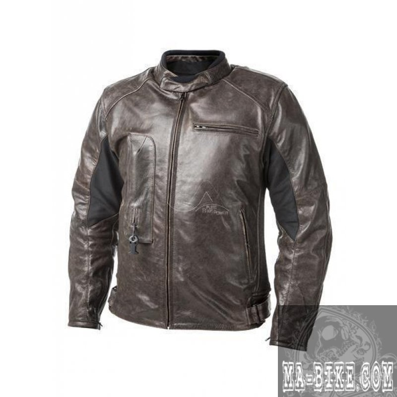 Helite Airbag Roadster Motorcycle Leather Jacket with ...