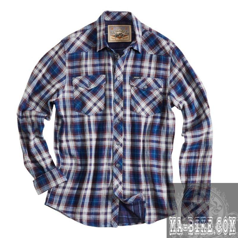 separation shoes cbad6 68940 Rokker Illinois Blue Check Herren Hemd Blau kariert