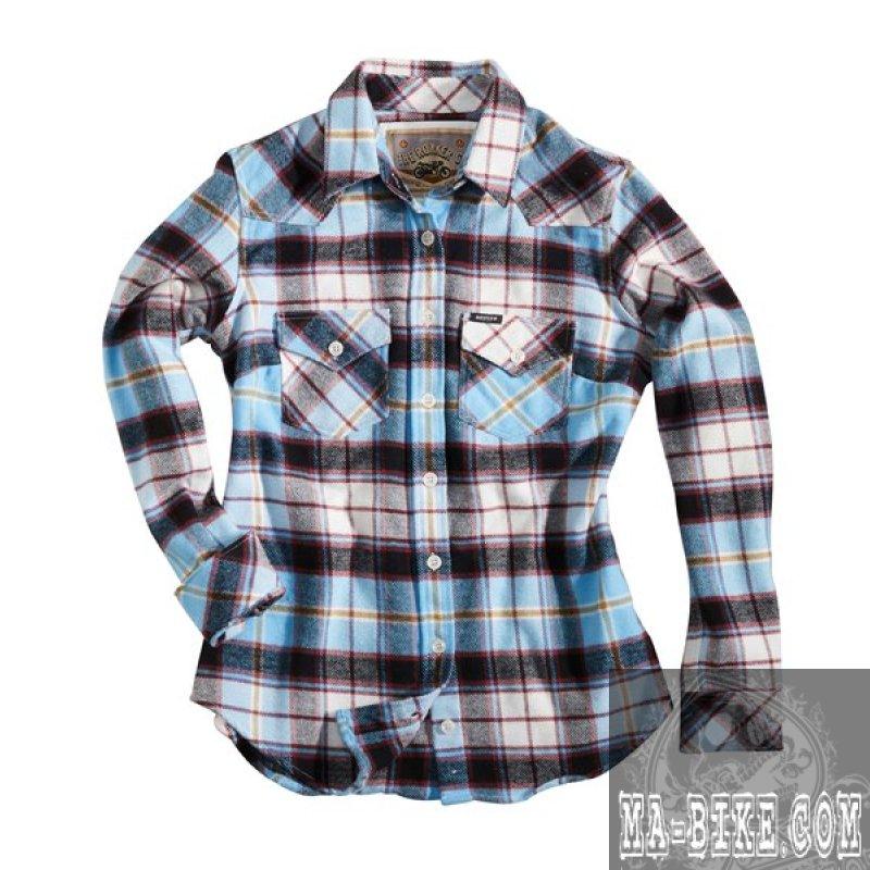 rokker jada shirt women damen hemd blau kariert 129 00. Black Bedroom Furniture Sets. Home Design Ideas