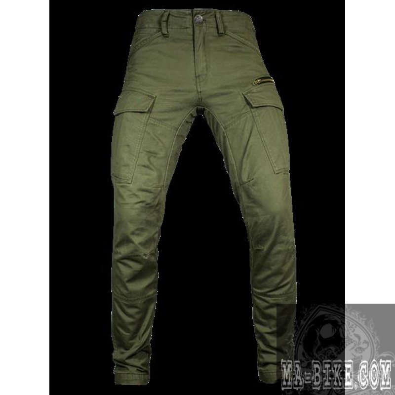 Collection: Autumn / Winter Fabric: % Cotton Weight: gr/m2 Other Features: short zipper on the front; adjustable width of legs; 6 pockets; PGWEAR leather patch on the side pocket flap.
