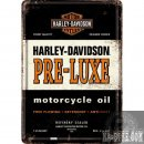 Blechpostkarte Harley Davidson PRE-LUXE