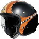 SHOEI J.O Waimea TC-10 Jethelm ECE 22.05 Mattschwarz Orange