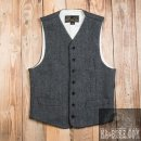 Pike Brothers 1923 Buccaneer Vest Herringbone Grey