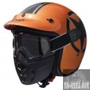 Premier Helm Jethelm Mask Star Metallic Orange Motorradhelm