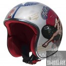 Premier Helm Le Petit Pin Up Old Style SilberJethelm ECE Modell 2017