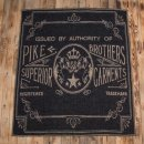 Pike Brothers 1969 Logo Blanket Faded Black Wolldecke...