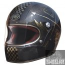 L 59-60cm Premier Trophy Carbon NX Gold Chromed Integralhelm ECE