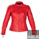 Rusty Stitches Damen Lederjacke Uma Rot