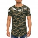 CnP Herren T-Shirt Camouflage Choppers n Party