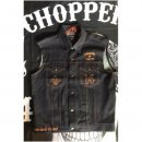 CnP Herren Old School Jeans Weste Raw Denim