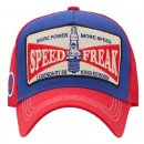King Kerosin Snapback Cap Speed Freak Schildkappe Rot Blau