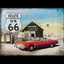 30x40cm Blechschild Route 66 The Mother Road