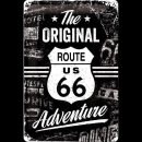 20x30cm Blechschild Route 66 The Original Adventure