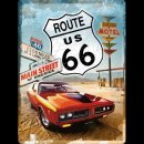 30x40cm Blechschild Route 66 Red Car