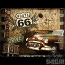 30x40cm Blechschild Route 66 Road Trip