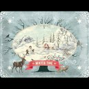 30x40cm Blechschild Winter Time Scenery