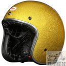 Bell Custom 500 Metall Flake Liquid Gold Jethelm Helm...