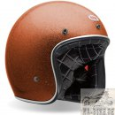 Bell Custom 500 Metall Flake Orange Jethelm Helm...