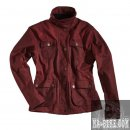 Rokker Wax Cotton Jacket Lady Red