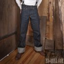 W32 L34 Pike Brothers 1936 Herren Jeans Chopper Pant Raw Denim