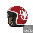 Premier Helm Vintage Star Red White Jethelm Rot Weiss