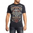 Affliction Infamous Black Lava Wash Herren Shirt
