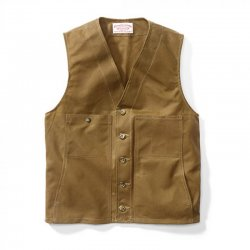 Filson Oil Tin Cloth Vest Tan Herrenweste