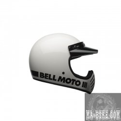 Bell Moto 3 Classic White Retro Cross Helm Weiss ECE 22.05