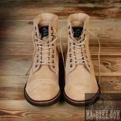 Pike Brothers 1938 Low Quarters Herren Stiefel natural Rough Out