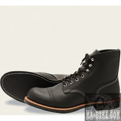 Red Wing Shoes 8114 Boots Iron Ranger Herren Lederstiefel Schwarz