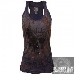 Queen Kerosin Longtop Rebel Lady Damenshirt Navy