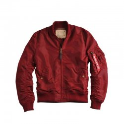 Alpha Industries Fliegerjacke MA-1 TT Long Herren Jacke Burgund