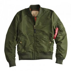 Alpha Industries Fliegerjacke MA-1 TT Long Herren Jacke Grün