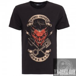 King Kerosin Herren T Shirt Devil Inside Schwarz