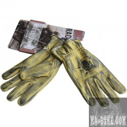 King Kerosin Biker Work Glove Faded Grau Handschuhe