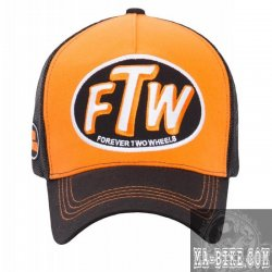 King Kerosin Snapback Forever two Wheels Schildkappe Orange Braun