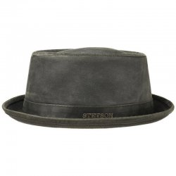 Stetson Pork Pie CO/PE 5 Herren Hut Anthrazit