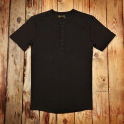 Pike Brothers 1954 Utility Shirt Short Sleeve Faded Black