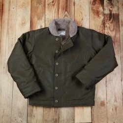 Pike Brothers 1944 N1 Deck Jacket Waxed Olive Wasserdicht