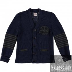 Eat Dust Service Cardigan Navy Herren Strickjacke