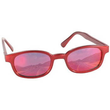 KD´s 20124 rote Sonnenbrille Fire rotes Glas Kult Brillen...