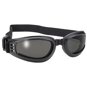 Pacific Coast Value Line Bikerbrille Schwarz Rauchgraue...