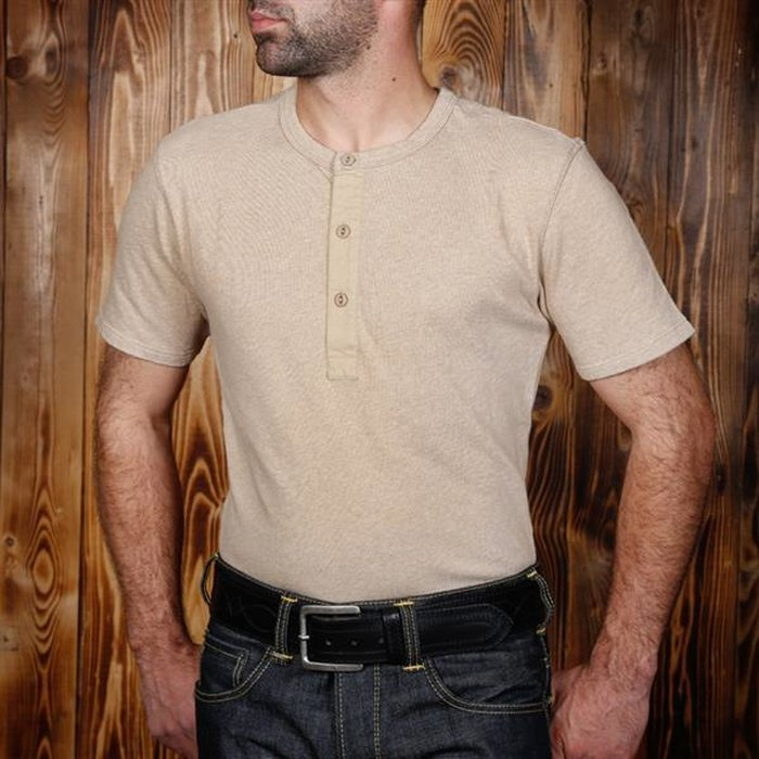 S Pike Brothers 1954 Utility Shirt Short Sleeve Oatmeal