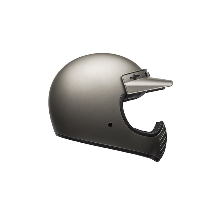 Bell Moto 3 Independent Mat Titanium Retro Cross Helm ECE 22.05
