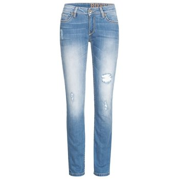 Rokker Jeans The Diva Distressed Damen Motorradjeans